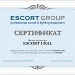 Escort Group. Разработка дизайна сертификата