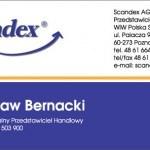 Scandex. Дизайн визитки регионального представителя