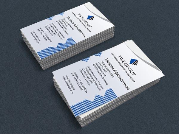 Дизайн визитных карточек
