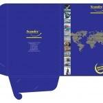 Scandex. Дизайн фирменной папки