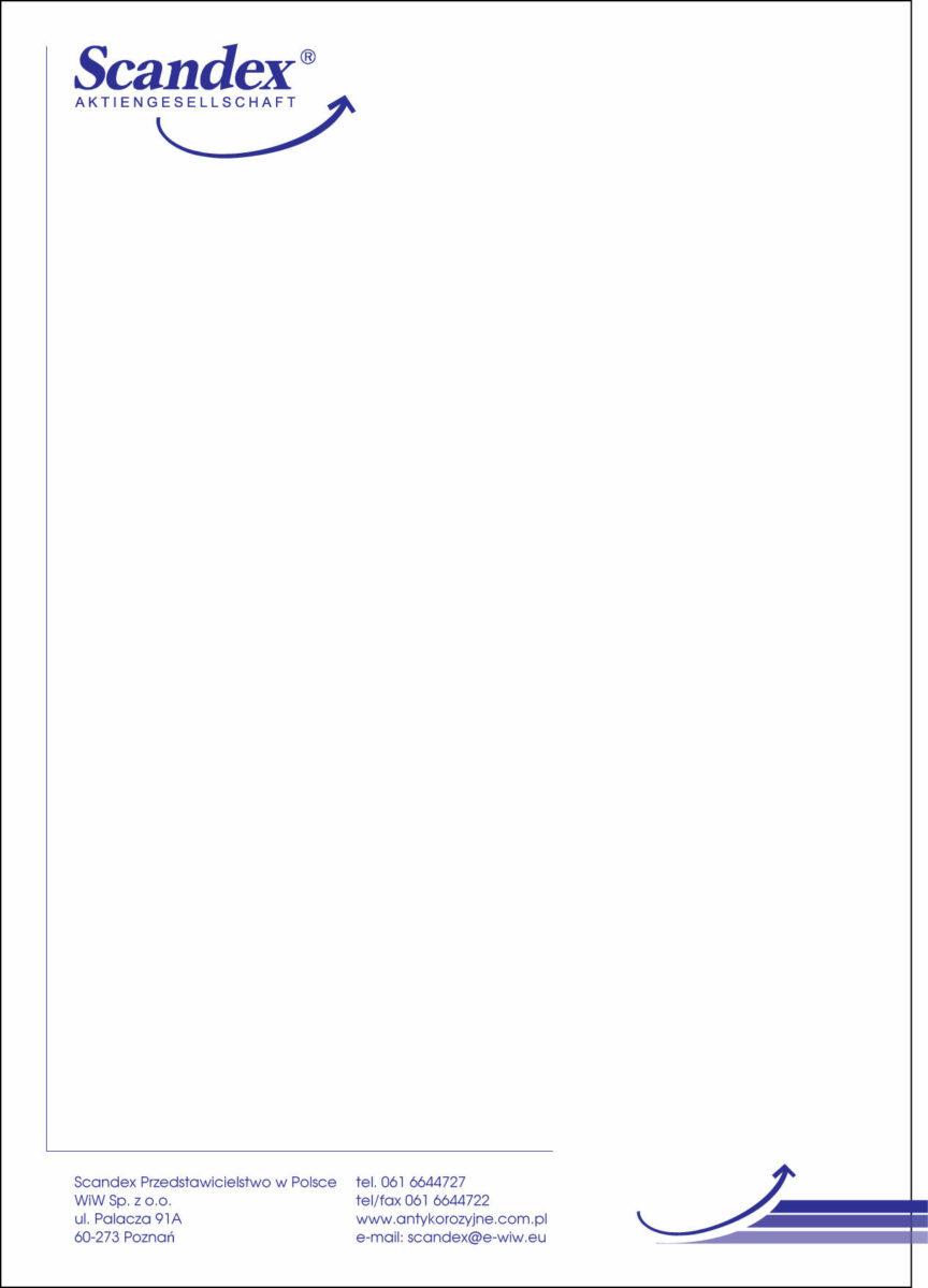 Scandex. Разработка дизайна фирменного бланка