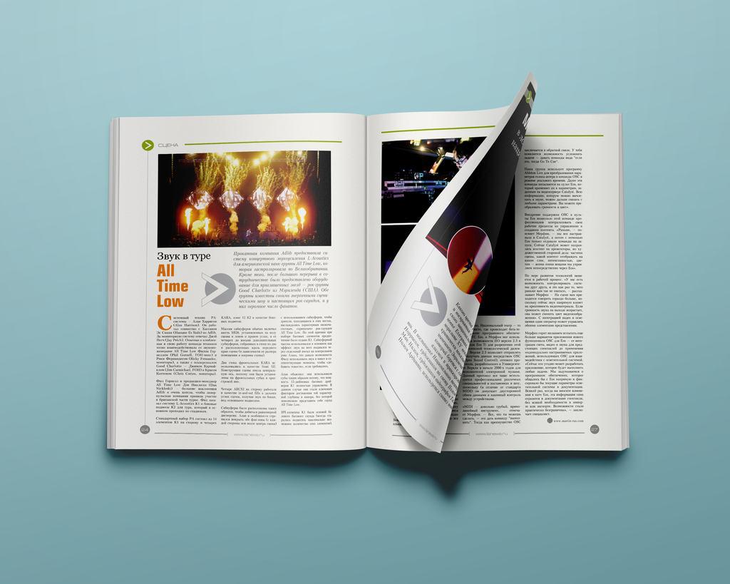 LIGHTSOUNDNEWS. Верстка ежеквартального журнала