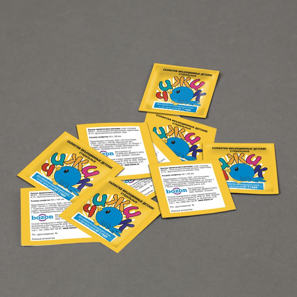 Разработка дизайна саше для детских инъекционных салфеток