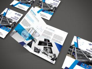 """Дизайн рекламной брошюры """"Система фальшполов"""""""